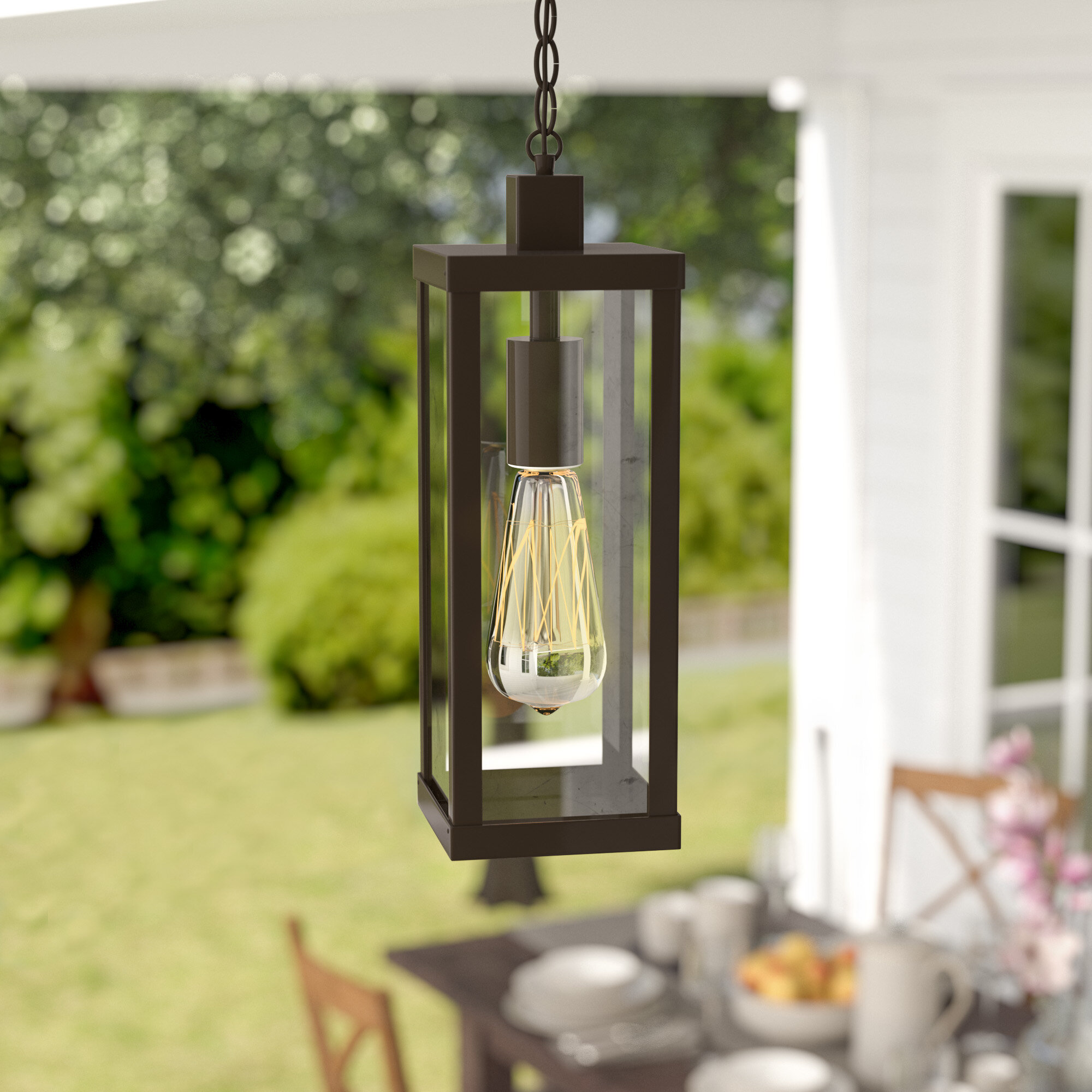 Mercury Row Pratt 1-Light Outdoor Hanging Lantern & Reviews | Wayfair