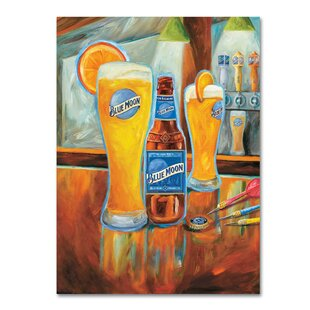 Darts by Blue Moon Painting Print on Wrapped Canvas by Miller Coors