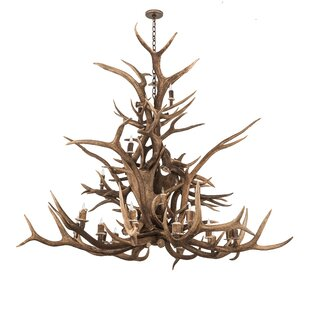Loon Peak Scruggs Elk 24-Light Novelty Chandelier