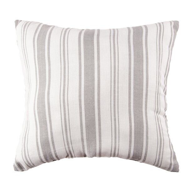 The Pillow Collection Henley Stripes Navy Down Filled Throw Pillow