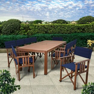 Beachcrest Home Foss Patio 11 Piece Dining Set
