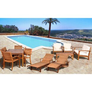 Beachcrest Home Frye 13 Piece Complete Patio Set with Cushions
