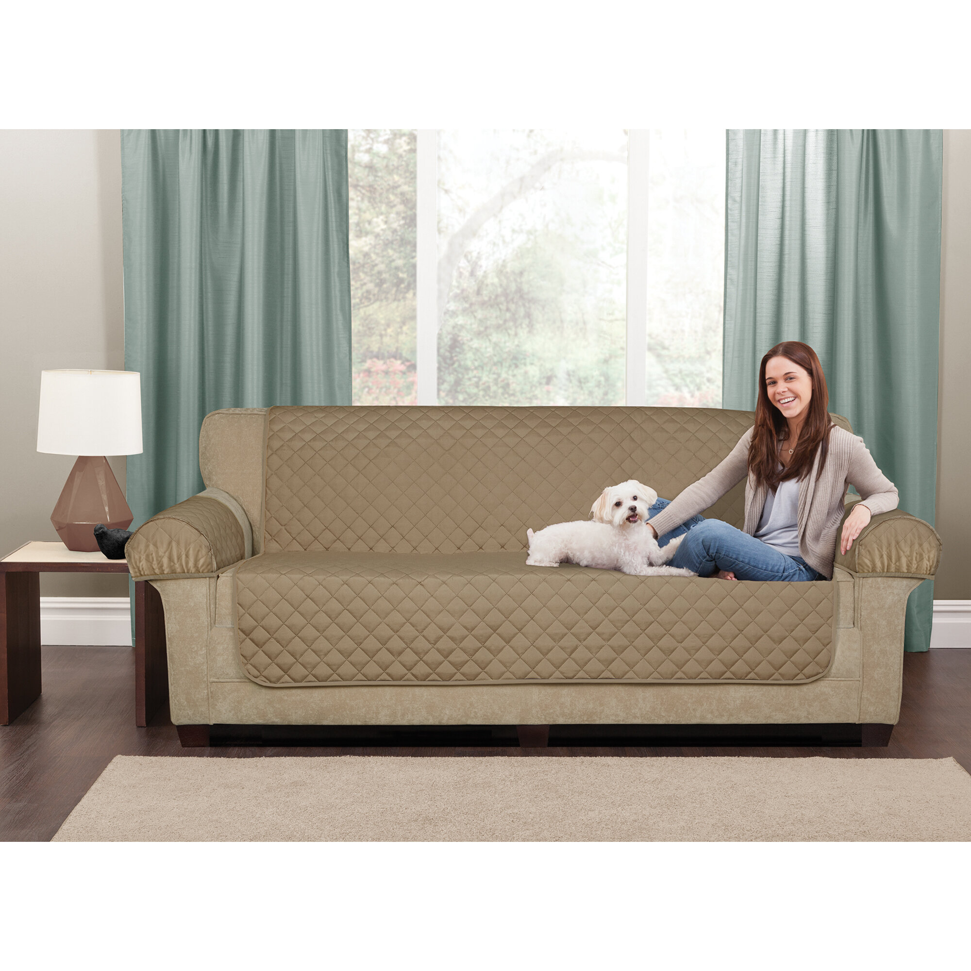 Maytex Waterproof 3 Piece Box Cushion Loveseat Slipcover Set Wayfair