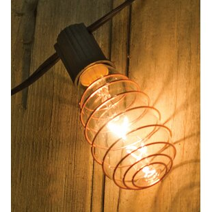 August Grove Johnone Edison 10 ft. 10-Light Globe String Lights