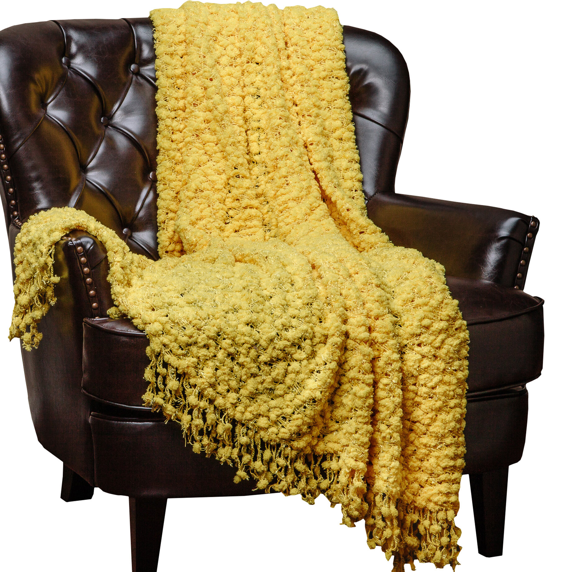 Chanasya Decorative Woven Popcorn Texture Knit Throw & Reviews | Wayfair