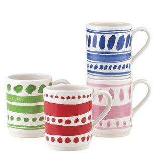 smart idea porcelain coffee mugs. All in Good Taste 4 Piece Pretty Pantry Stacking Mug Set Mugs  Wayfair