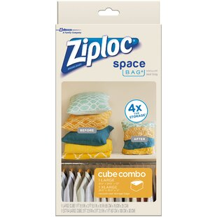 Shopping for Large & X-Large Ziploc® Vacuum Seal Cube Space Bag® ByJohnson Wax