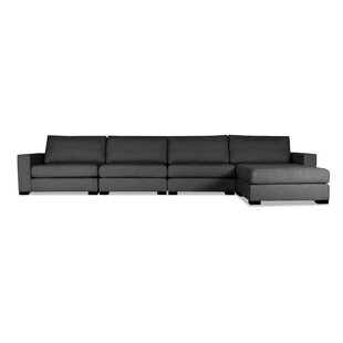 Brose Plush Deep Modular Sectional with Ottoman