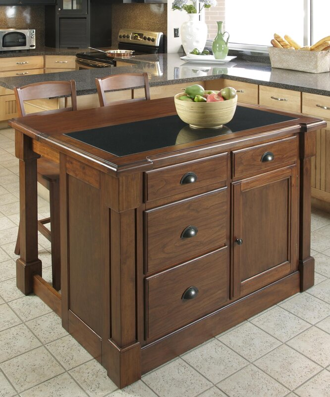 Darby Home Co Cargile Kitchen Island & Reviews | Wayfair