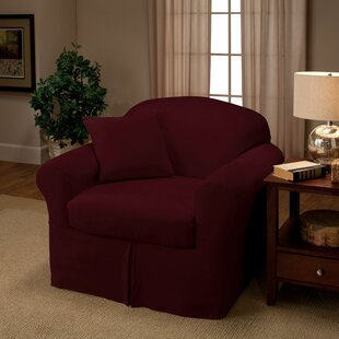 Microsuede Box Cushion Armchair Slipcover