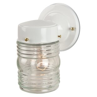 Knezova Small Jelly Jar Exterior Wall Mount Lantern