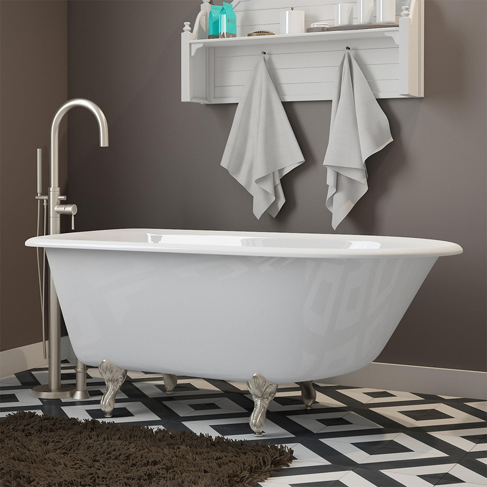 Picture of: Cambridge Plumbing None 56 X 30 Clawfoot Bathtub Reviews Wayfair