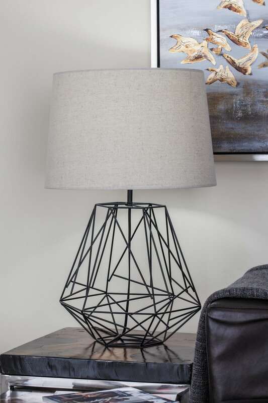 Cole grey metal wire 25 table lamp reviews wayfair metal wire 25 table lamp greentooth Images