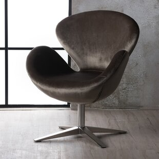 Broaddus Swivel Armchair by Wrought Studio