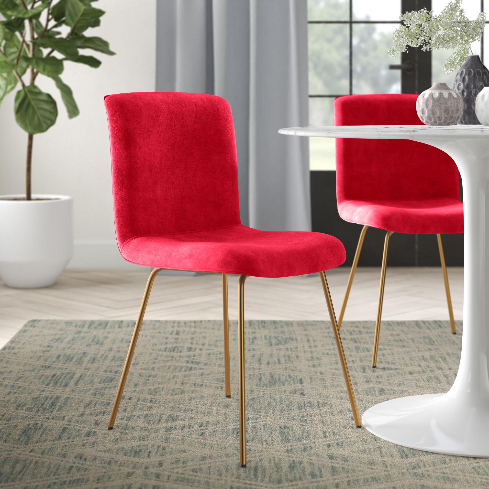 Zac Velvet Upholstered Side Chair Reviews Joss Main