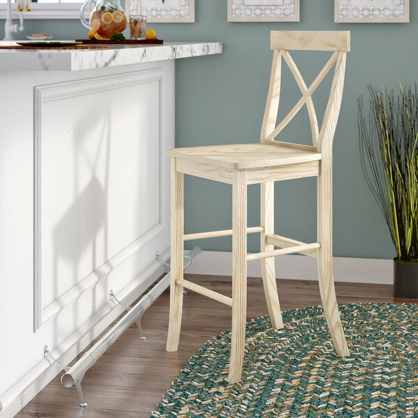Three Posts Odis Solid Wood Bar Counter Stool Reviews Wayfair