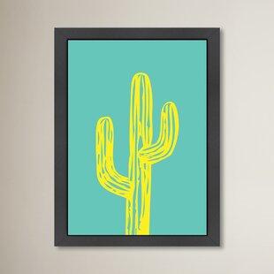cactus framed art you ll love wayfair