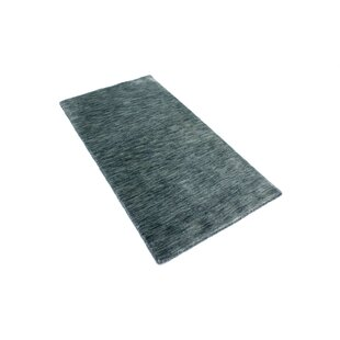 Astral Hand Hooked Wool Silver Indoor/Outdoor Rug By 17 Stories