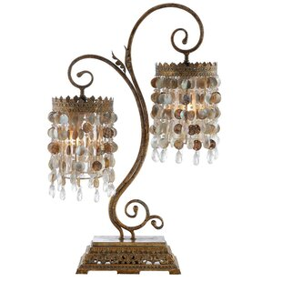 Seashell Frills Twin 32 Arched Table Lamp