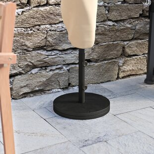 Black Cast Iron Free Standing Umbrella Base by Beachcrest Home 2019 Sale