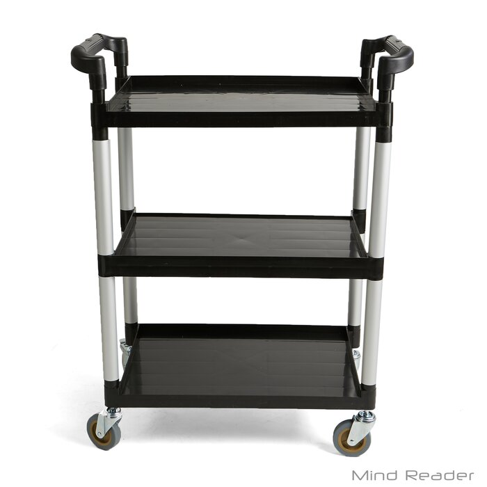 1a8ab5e7226d 3 Tier Mobile Rolling Bar Cart with Handle