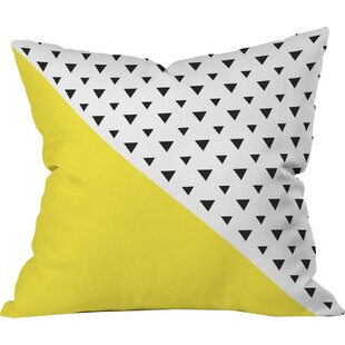 Chartreuse n Triangles Outdoor Throw Pillow By Deny Designs