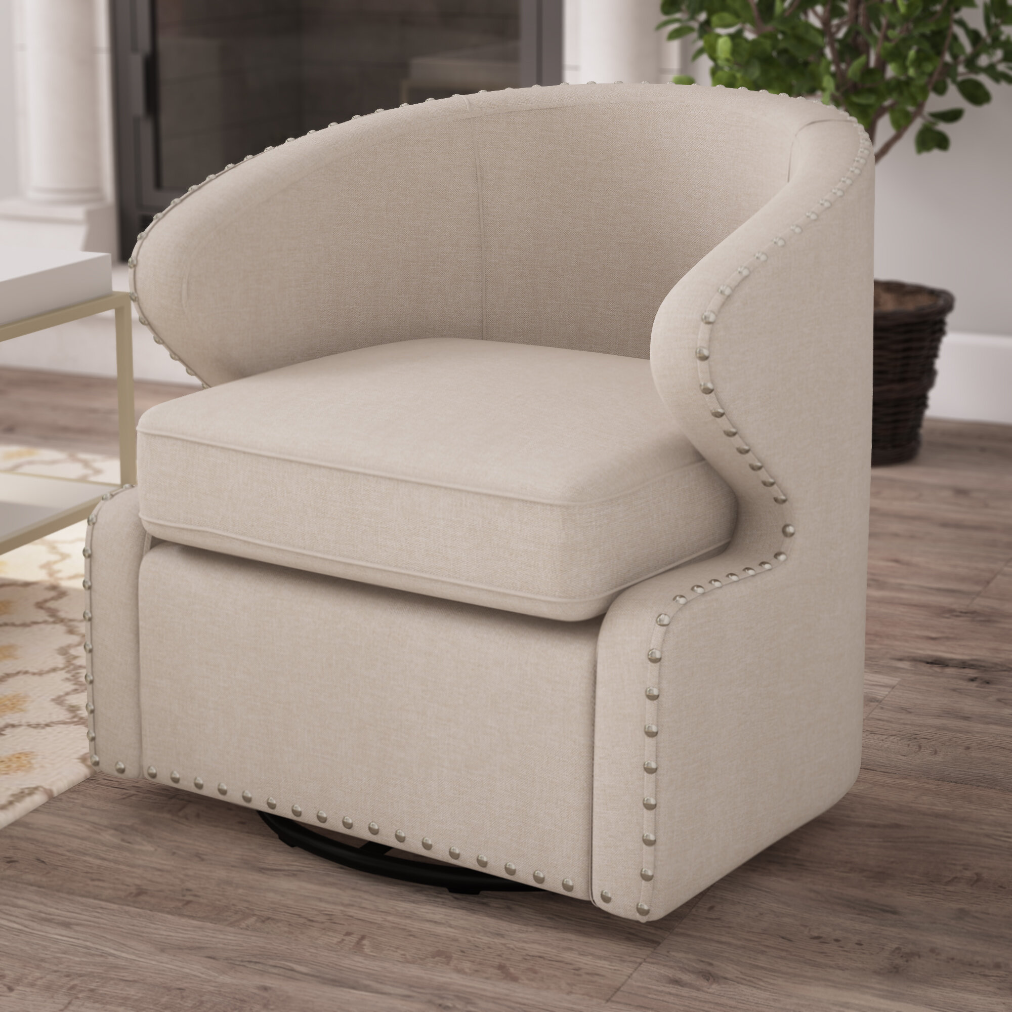 Picture of: Barrel Beige Accent Chairs You Ll Love In 2020 Wayfair