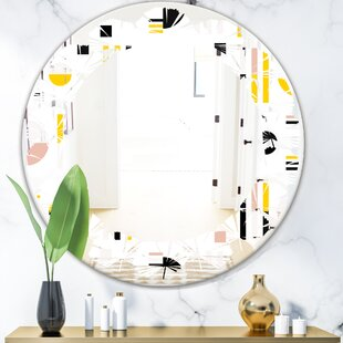 Design IX Leaves Cottage Americana Frameless Wall Mirror by East Urban Home