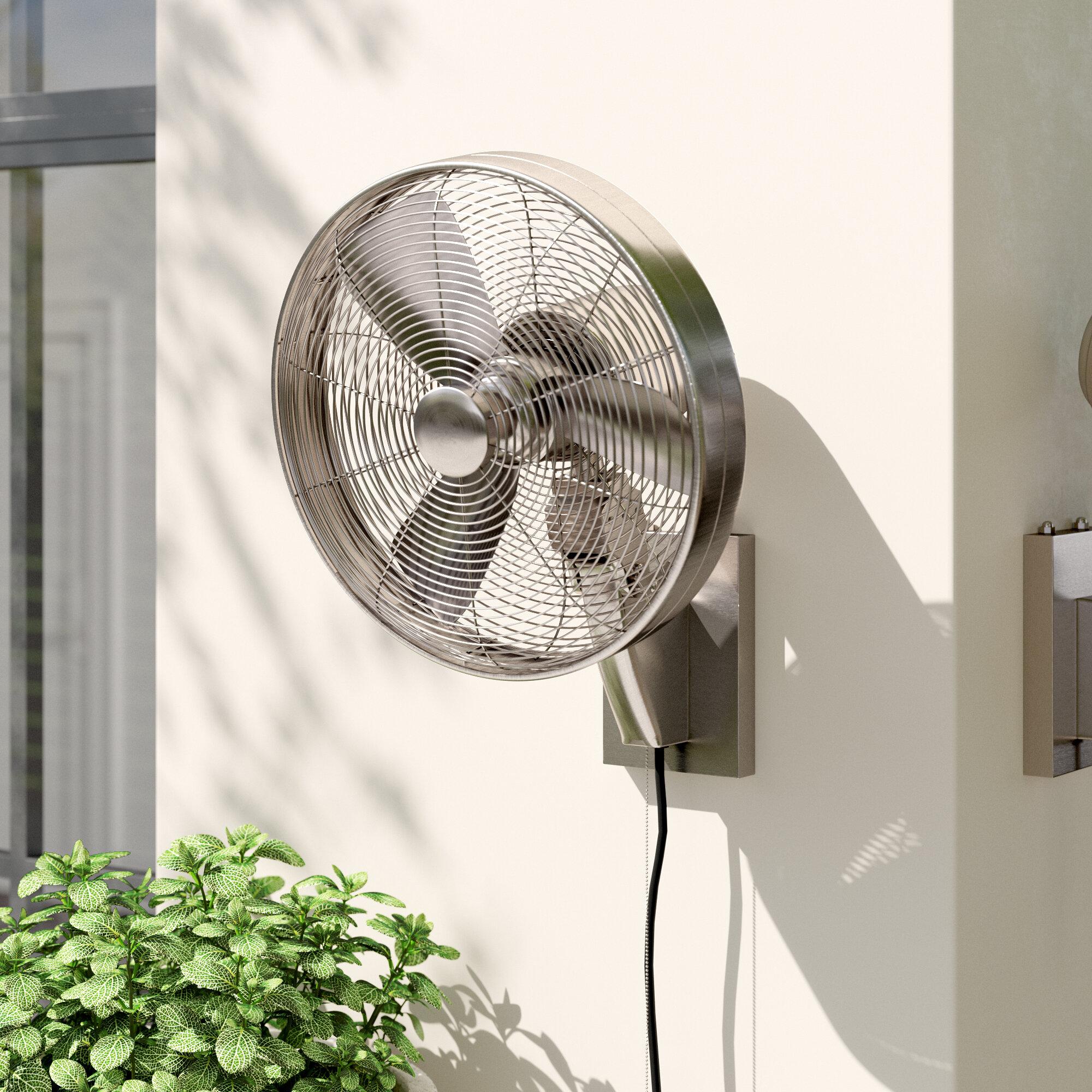 Minka Aire Anywhere 18 4 Oscillating Wall Mounted Fan Reviews Wayfair