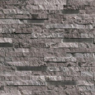 Eclipse Interlocking Pattern Random Sized Stone/Metal Splitface Tile in Gray
