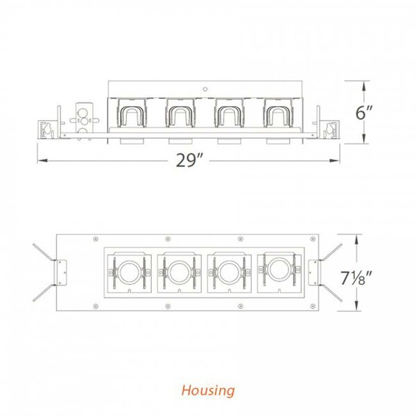 Wac Lighting Precision Led Multi Spotlight Recessed Lighting Kit Perigold