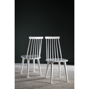 Spindle Solid Wood Slat Back Arm Chair (Set of 2)