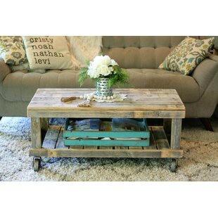 Leos Natural Vintage Wheel Coffee Table