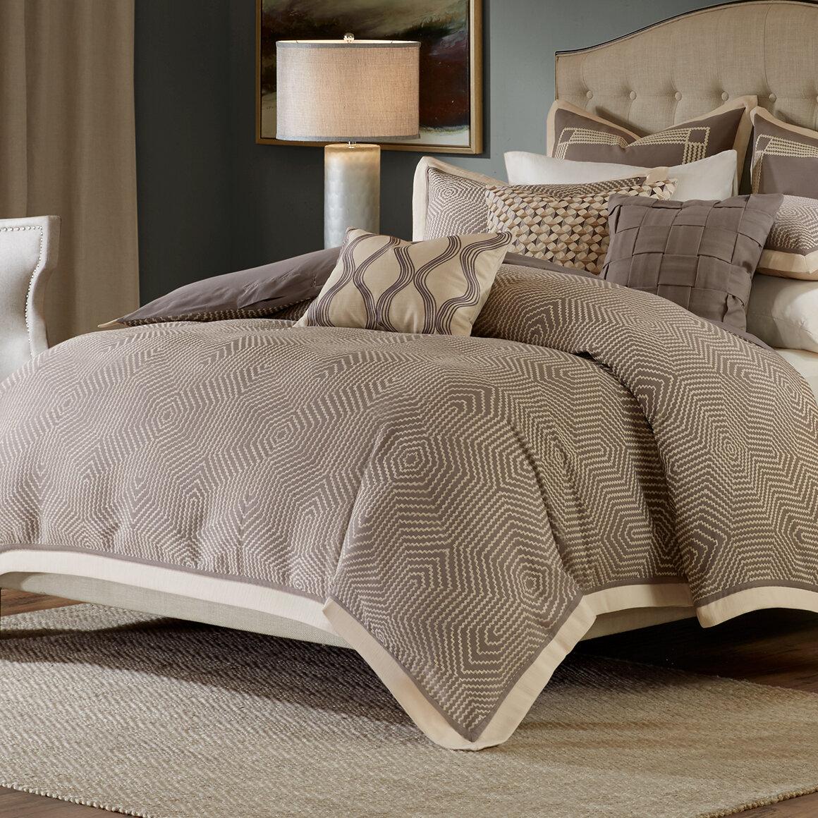 Madison Park Signature Gray Geometric 8 Piece Comforter Set Reviews Wayfair