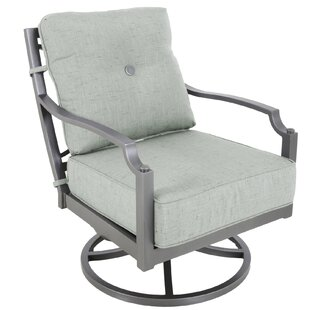 Red Barrel Studio Konevsky Aluminum Outdoor Deep Seating Swivel Patio Chair with Cushion (Set of 2)