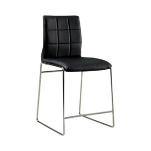 Roesler Contemporary Leather Upholstered Dining Chair (Set of 2) by Latitude Run
