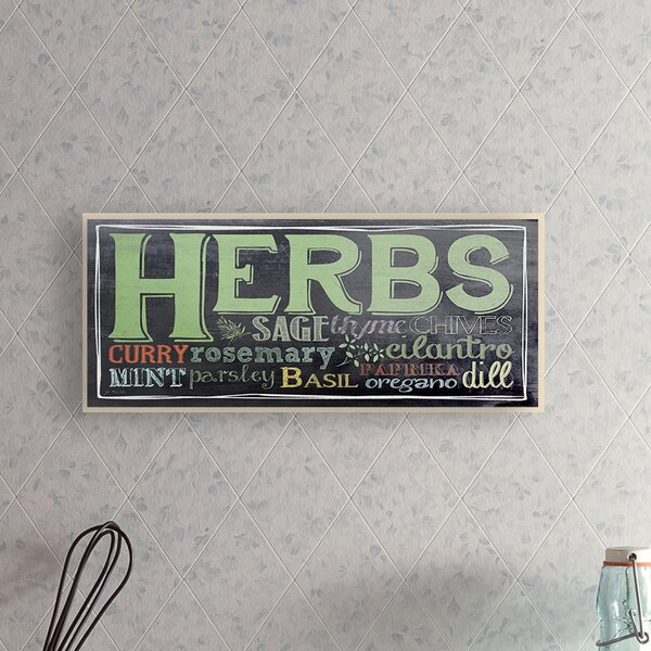 Cheng Herbs Chalkboard Look Typography Wall Plaque