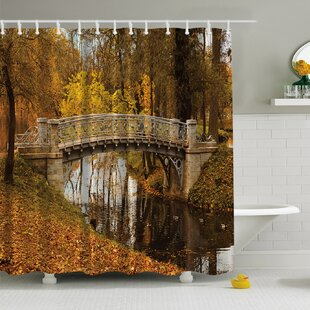 Fall View Print Single Shower Curtain by Ambesonne New