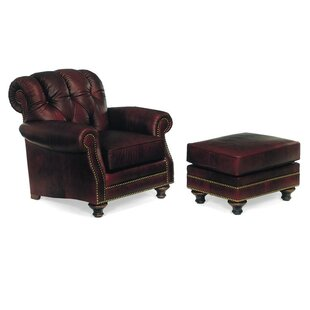 St. Lucia Armchair with Ottoman by Leathercraft