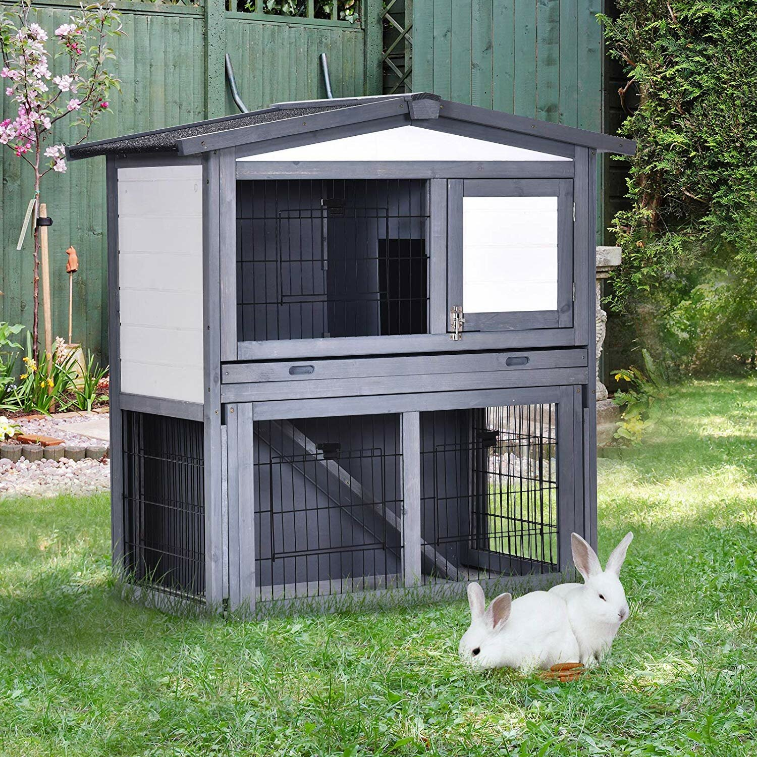 Coleman Weather Resistant Rabbit Hutch with Ramp