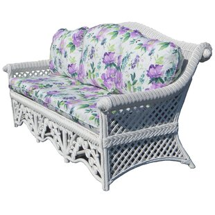 Mathys Traditional Floral Wicker Sofa