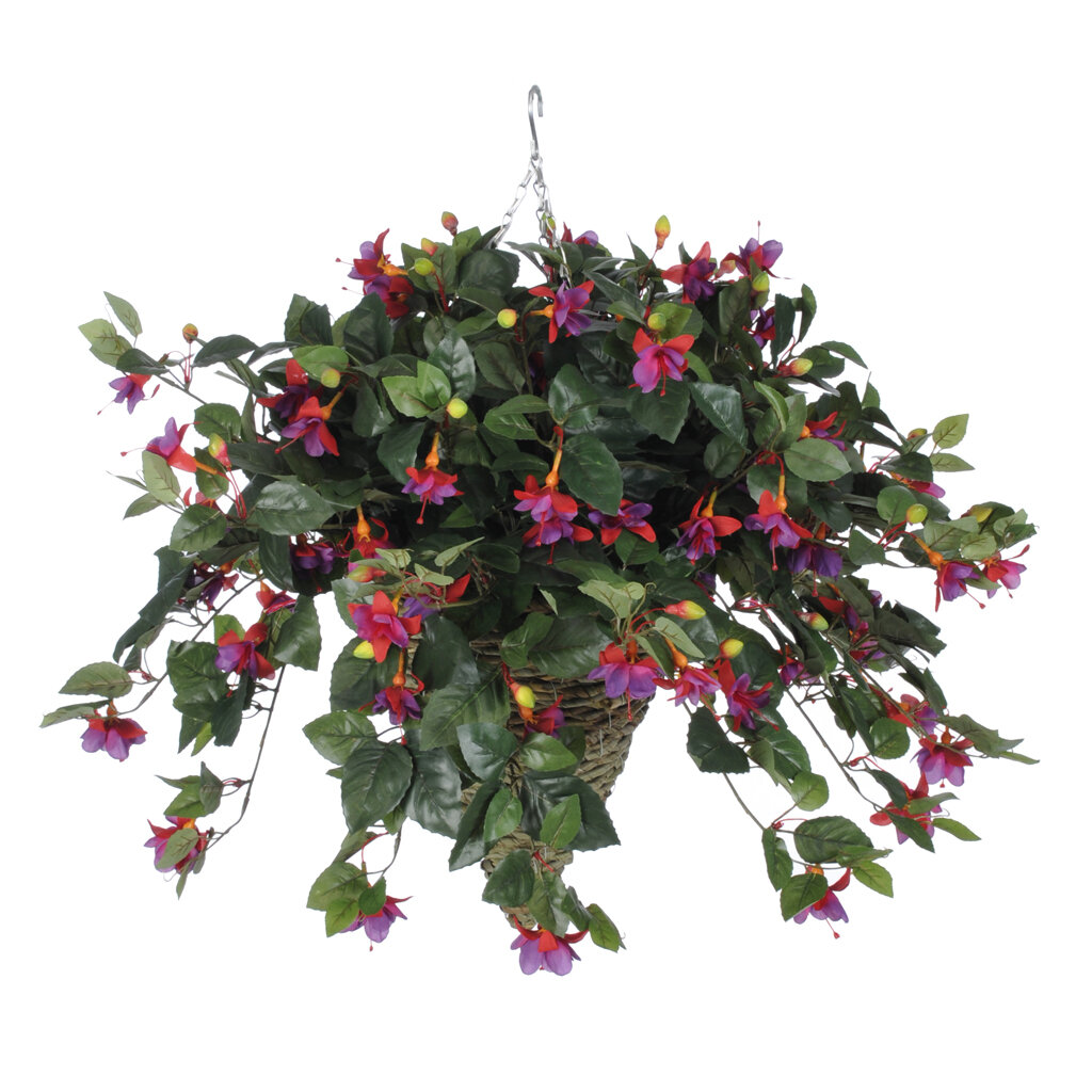 Hanging Baskets Charlton Home Faux Flowers You Ll Love In 2021 Wayfair