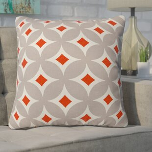 Buzbee Vermillion Diamond Throw Pillow