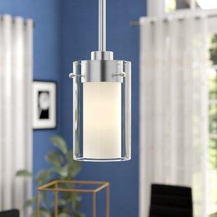 Levi 1-Light Cylinder Pendant by Latitude Run
