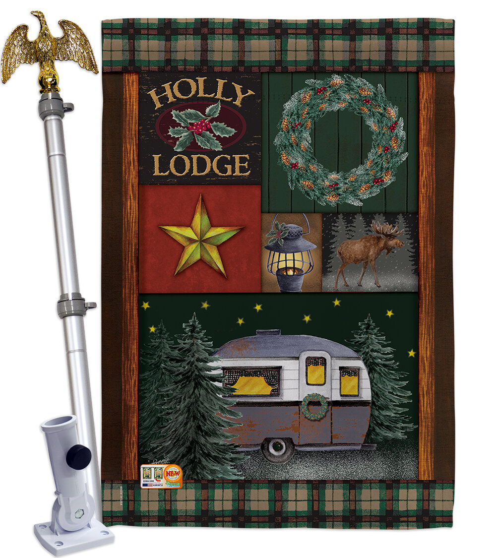 Breeze Decor Impressions Decorative Holly Lodge 2 Sided Polyester 40 X 28 In Flag Set Wayfair