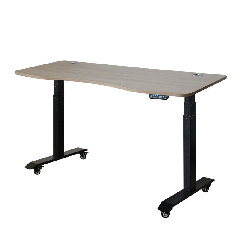 Why Standing Desks Should Be In Every >> Symple Stuff Letcher Electric Standing Desk Converter Wayfair