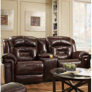 Avatar Genuine Leather Reclining Loveseat..