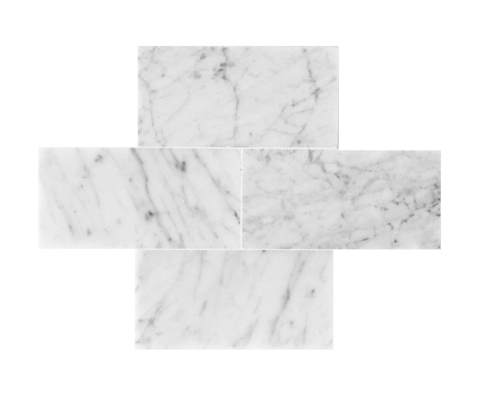 Seven Seas Bianco Carrara 3 X 6 Polished Marble Tile Reviews Wayfair