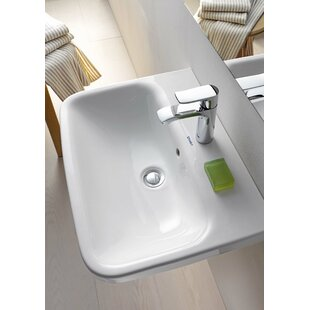 Duravit DuraStyle Ceramic Rectangular Pedestal Bathroom Sink with Overflow