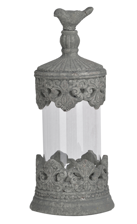 Ophelia Co Leonie Fleur Jar With Bird Lid Sculpture Wayfair